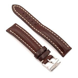 BREITLING Brown Leather Strap, 20-18, 431X